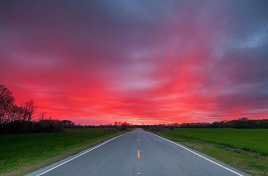 West Columbia Sunset by Derek Thornton