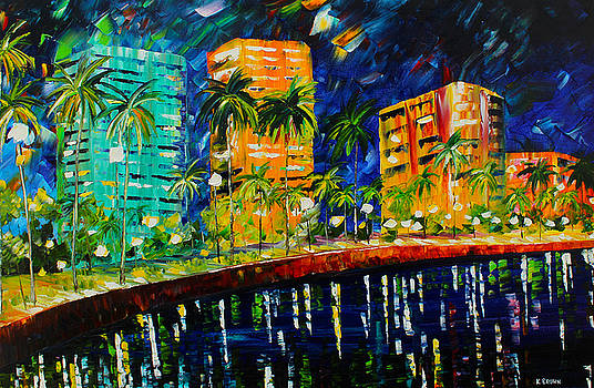 West Palm At Night by Kevin Brown