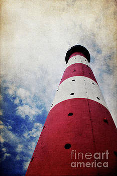 Westerhever Lighthouse Vintage by Angela Doelling AD DESIGN Photo and PhotoArt