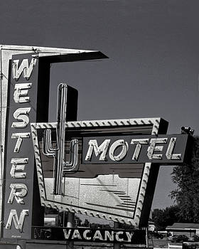 Western Motel in Black and White by Matthew Bamberg