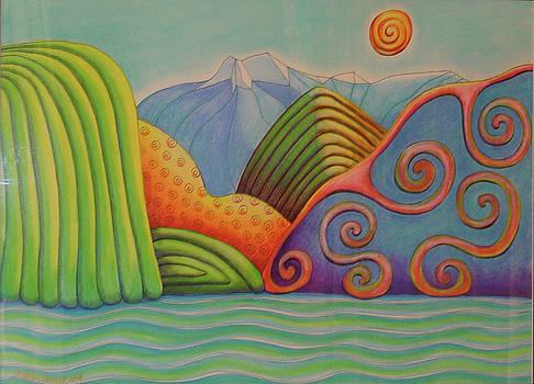 Westland Lake NZ by Barbara Stirrup