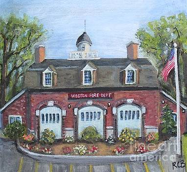 Weston Fire House on a Summer Afternoon by Rita Brown