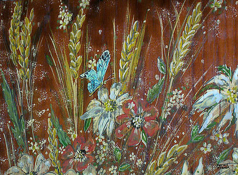 Wheat 'n' Wildflowers I by Phyllis Mae Richardson Fisher