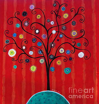 PRISTINE CARTERA TURKUS - Whimsical Tree of Hope