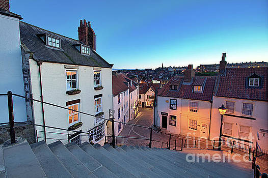 Whitby Steps at Night 1 by Martin Williams