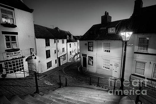 Whitby Steps at Night 2 by Martin Williams