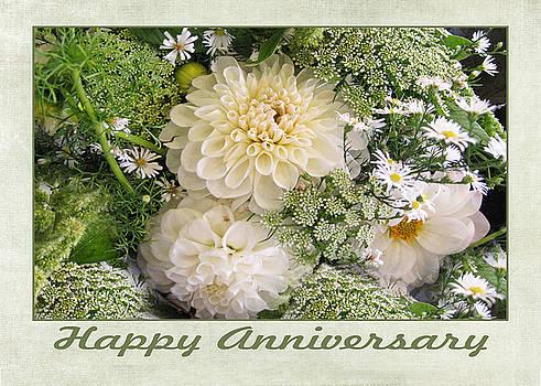 White Anniversary Bouquet by Geraldine Alexander