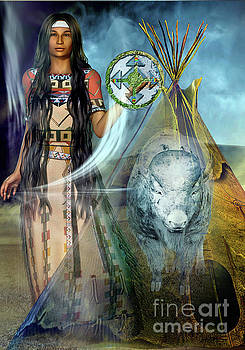 White  Buffalo  Calf Woman 2 by Shadowlea Is