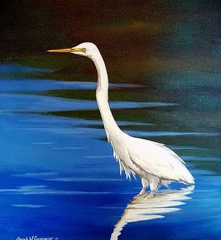 White Egret by Sarah Grangier