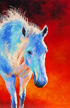 White Horse by Lynee Sapere