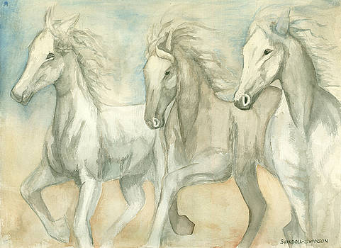 White Horses by Delores Swanson