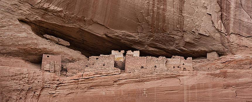 White House Ruins Pano Canyon De Chelly AZ by Steve Gadomski