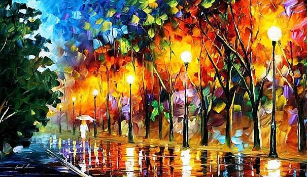 White Mood - PALETTE KNIFE Oil Painting On Canvas By Leonid Afremov by Leonid Afremov