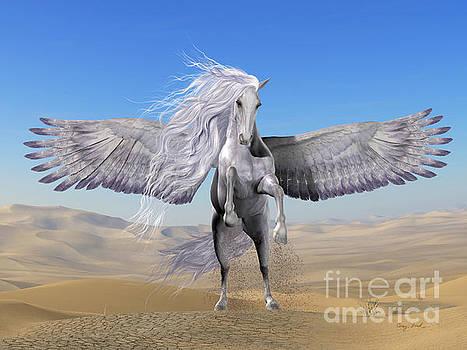 Corey Ford - White Pegasus in Desert