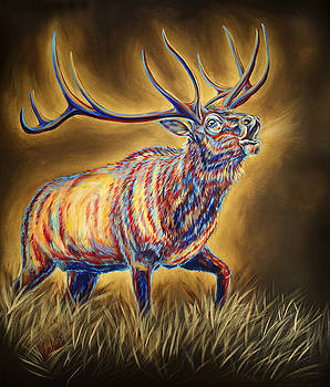 White Pine Sanctuary Bull by Teshia Art