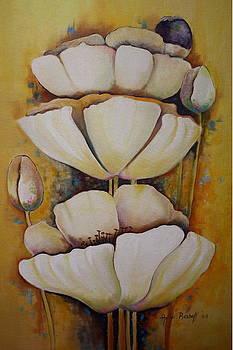 White Poppys by Ansie Boshoff