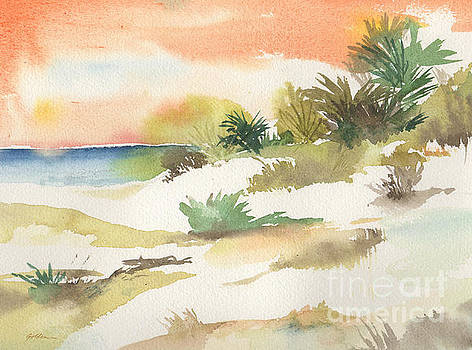 White Sands at Sunset by Sheila Golden
