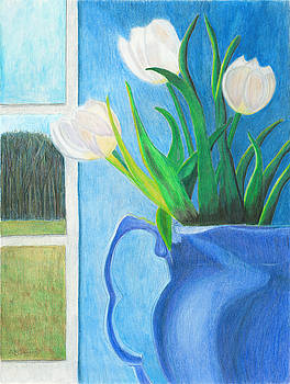 White Tulips by Arlene Crafton
