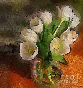 White Tulips by Dragica Micki Fortuna