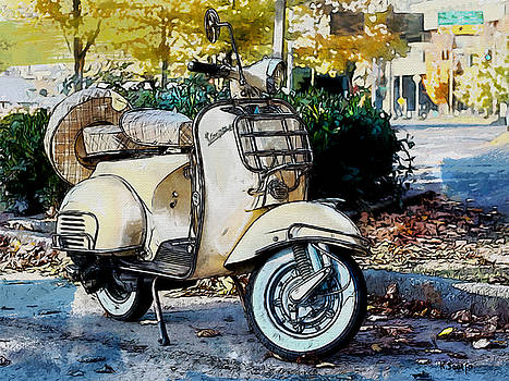 White Vespa by Kai Saarto
