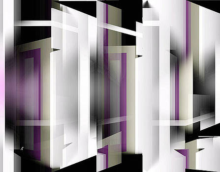 White With Purple Trim by John Krakora