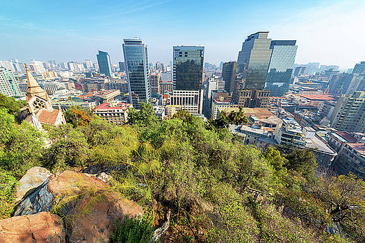 Wide Angle View of Santiago, Chile by Jess Kraft