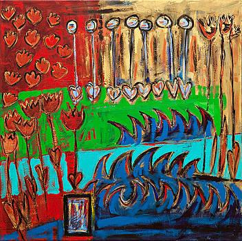 Wild Abstract Garden by Maggis Art