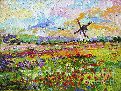 Ginette Callaway - Wild Tulips Dutch Country Side