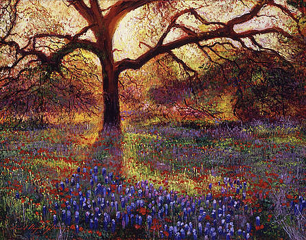 Wildflower Meadow by David Lloyd Glover