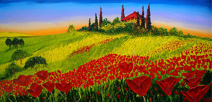 Wildflowers Of Tuscany by Portland Art Creations