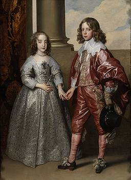 William II, Prince of Orange, and his Bride, Mary Stuart by Anthony van Dyck