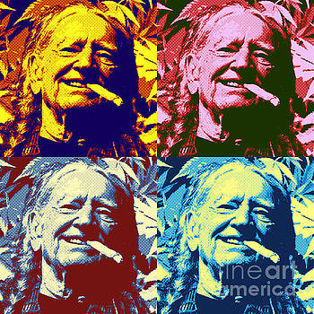 Willie Weed Pop Art Poster by John Malone
