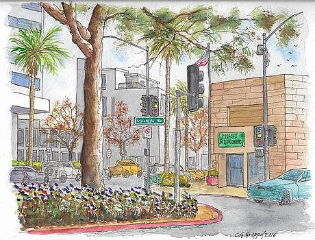 Wilshire Blvd. and Camden Dr., First Republic Bank in Beverly Hills, CA by Carlos G Groppa