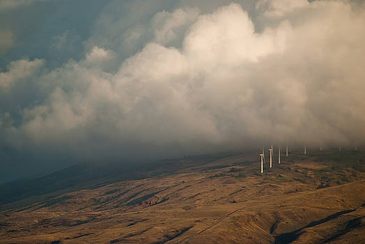 Wind Energy, Maui, Hawaii by Preston Broadfoot