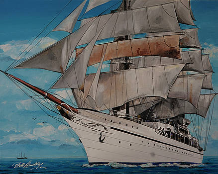 Wind Filled Sails by Bill Dunkley