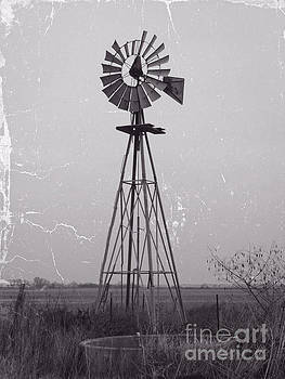 Wind pump and Stock pond by Ella Kaye Dickey