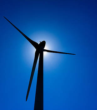 Wind Turbine Silhouette by Marion McCristall
