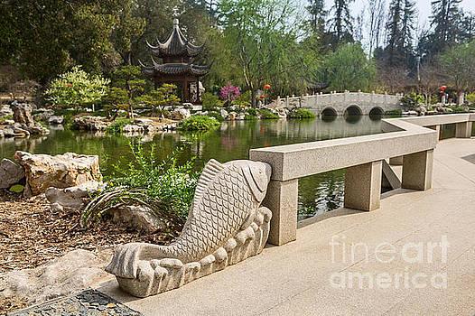 Jamie Pham - Winding bridge in the Chinese Garden at the Huntington.