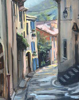 Winding Street in Provence by Donna Tuten