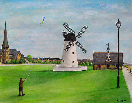 Windmill at Lytham St Annes On Sea by Ronald Haber