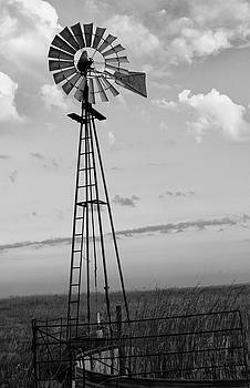 Windmill in Monochrome by Tony Grider