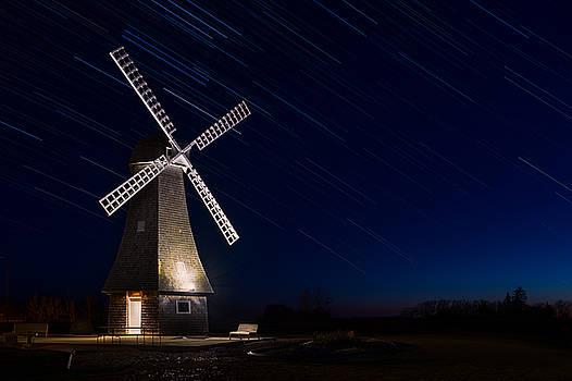 Windmill In The Night by Nebojsa Novakovic