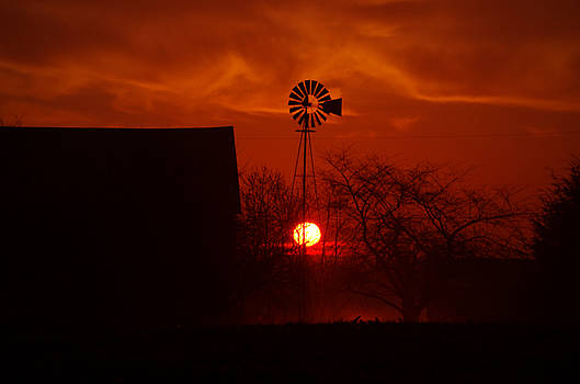 Windmill Sunrise by Robert Geary