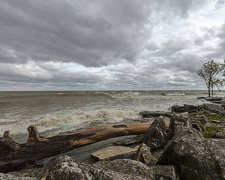 Jack R Perry - Windy day on Lake Erie