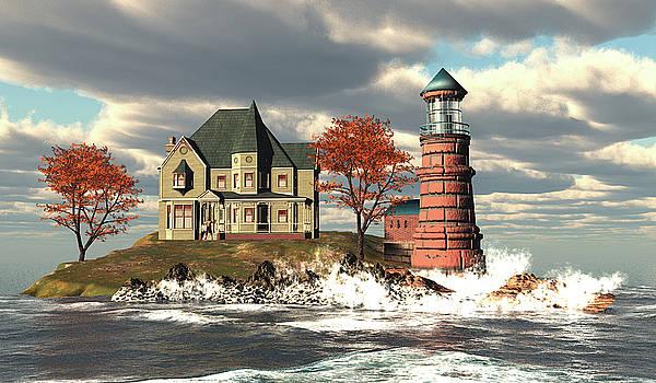 Windy Point Lighthouse by John Junek