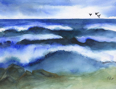 Windy Sea 2 by Frank Bright