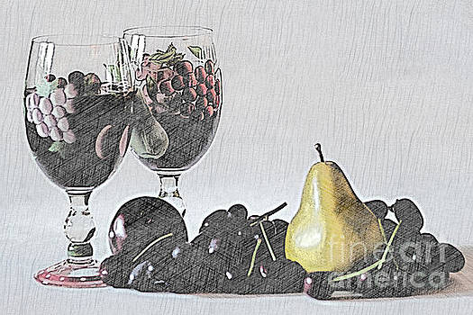 Wine and Fruit by Sherry Hallemeier