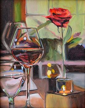 Wine by Candlelight by Donna Tuten