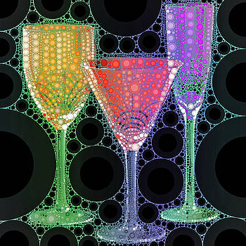 Wine Glass Art-1 by Nina Bradica