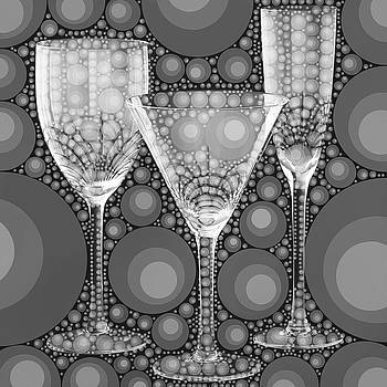 Wine Glass Art-2 by Nina Bradica